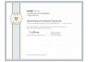 CertificateOfCompletion_Advertising on Facebook Advanced